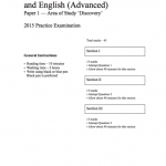 HSC 2015 Practice English Paper 1, Section 1 (Unseen texts) with worked answers
